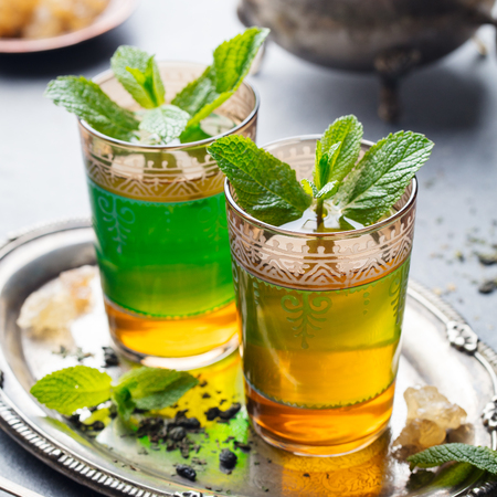 Mint, green tea Moroccan traditional drink