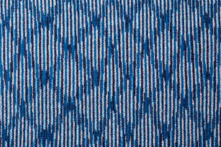 Blue knitted wool texture background pattern with high resolution. Top view. Copy space.