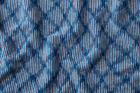 Blue knitted wool texture  pattern with high resolution. Top view. Copy space.