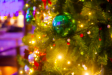 Christmas Eve, New Year decoration lights bokeh blurred Stockfoto