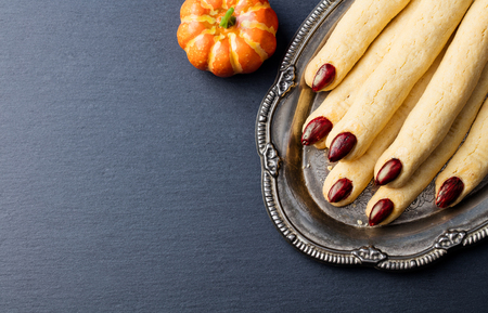 Cookies Witch fingers for Halloween party celebration.