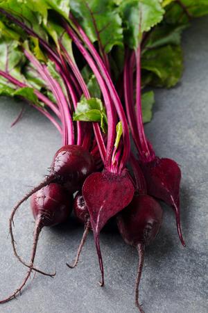 Fresh organic beet, beetroot.