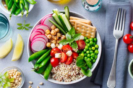 Healthy vegetarian salad. Buddha bowl.