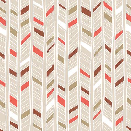 White hand drawn colorful irregular tribal chevron background vector seamless pattern. Fresh geometric drawing
