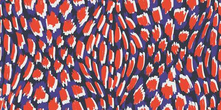 Abstraktes handgezeichnetes Tierhaut-Vektor-nahtloses Muster. Organische Fragmente. Wunderliche Flecken-Beschaffenheit.