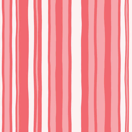 Coral Monochrome Hand Drawn Wavy Uneven Vertical Stripes Vector Seamless Pattern. Classy Abstract Geo Foto de archivo - 123110570