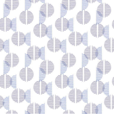 Small Blue Retro Geo Dots Vector Seamless Pattern. Modern Abstract Blue Black Circles on White Background Illustration