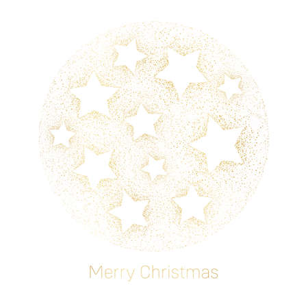 Elegant Winter Holidays Gold Stardust and Stars on White Background Square Happy Holidays Gift Card