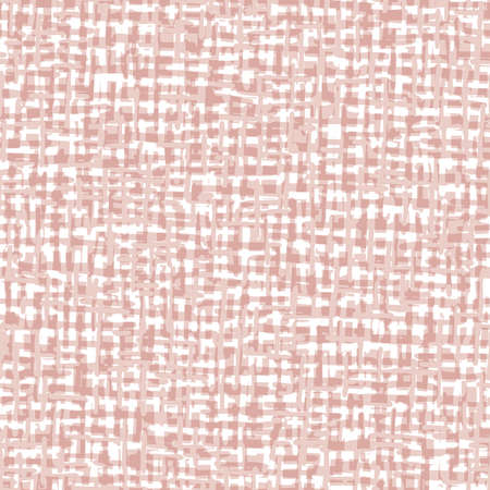 Abstract Hand-Drawn Beige Textile Linen Weave Texture Vector Seamless Pattern. Organic Cross Hatch Style Lines. Geo Farmhouse Tribal Spun Textile. Organic Abstract Linen Print. Rustic Craft Design