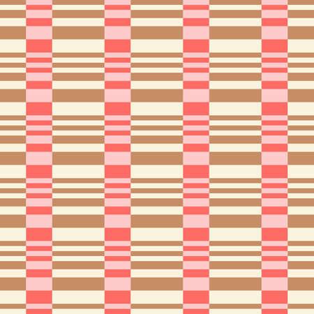 Bold Colorful Small Scale Optical Geo Horizontal Stripes Vector Seamless Pattern. Retro 70s Style Nostalgic Fashion Textile Background. Summer Resort Print. Micro Geometric Texture