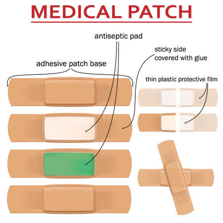 Set of realistic medical patches Imagens - 124941073