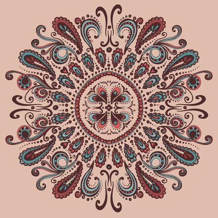 motton: Abstract  oriental circular hand drawn pattern  Vector illustration