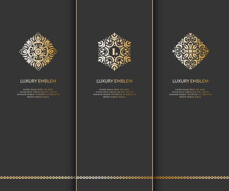 royal person: Luxury vector emblem. Elegant design element, can be used for jewelry, beauty and fashion iindustry Great for logo design and monogram, or any desired idea.