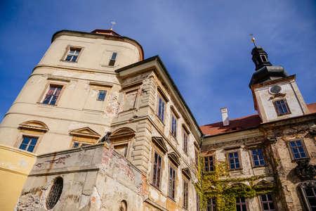 Old baroque castle Jezeri and its slow reconstruction, Northern Bohemia, Czech Republic, September 19, 2020 Sajtókép