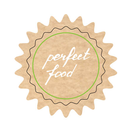Perfect food, vector sign, hand-drawn illustration