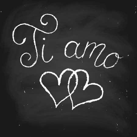 phrase in spanish i love you chalk on a blackboard vector royalty