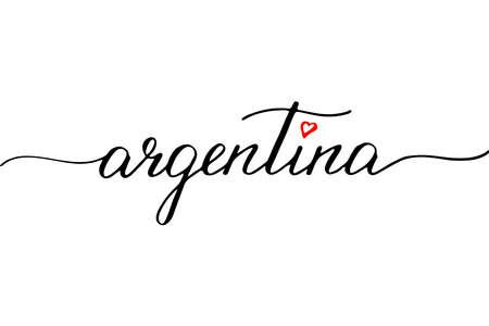 Argentina handwritten text vector