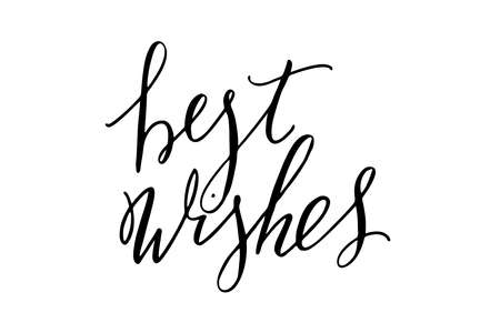 Best wishes handwritten text vector Illustration