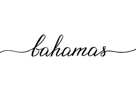 Bahamas handwritten text vector