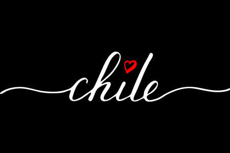 Chile handwritten text vector