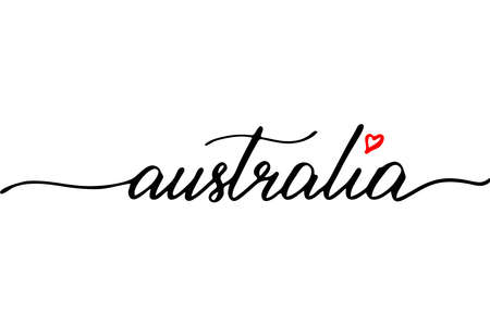 Australia handwritten text vector