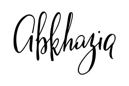 Abkhazia handwritten text vector