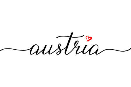 Austria handwritten text vector Illustration