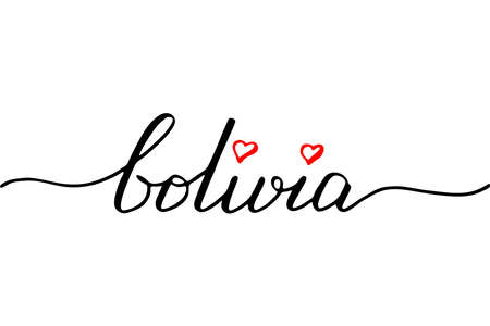 Bolivia handwritten text vector