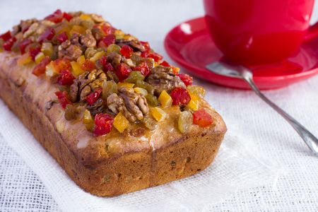 candied fruits: cake decorated candied fruits and nuts