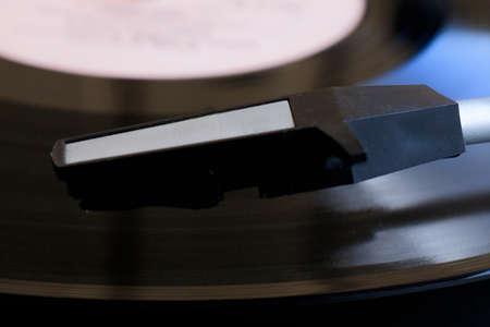 Vinyl record player. Retro musical evening Stock fotó