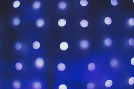 Round bokeh on a classic blue background Stockfoto - 137876903