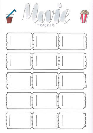 movie tracker for bullet journal or planner to be up to date stock