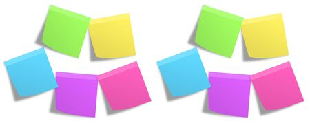 Banner of Various Color Adhesive Note Collection, Various Color Adhesive Notes - stock photo