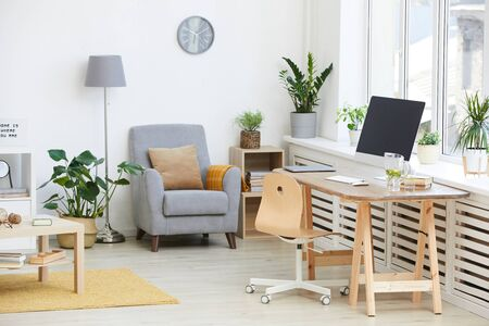 Image of domestic room with modern furniture in apartment
