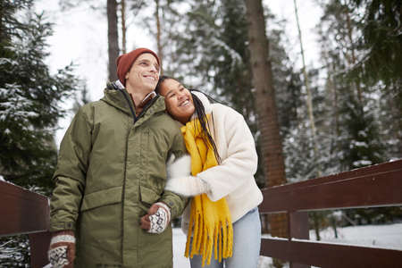 Happy woman happy with her walk with boyfriend they walking in the park enjoying the nature