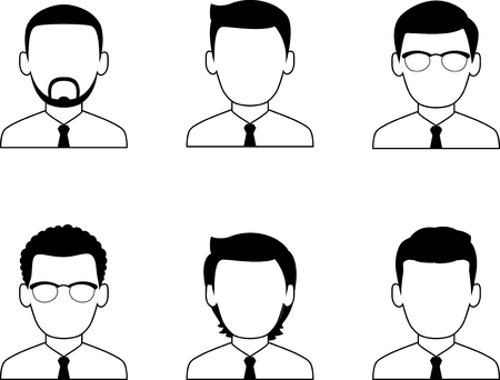 Occupation avatars of different manager. Collection of various avatars of male.