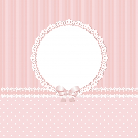 cute baby girls: Baby pink vector background Illustration