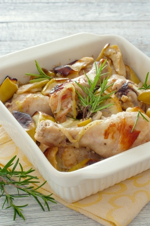 Chicken drumsticks cooked in the oven photo