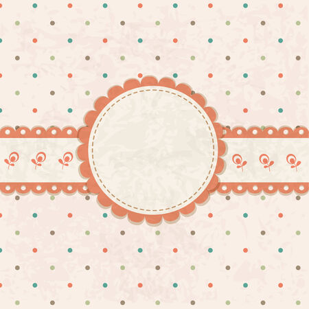 Vintage vector background with polka dots pattern for birthday and wedding  Vector