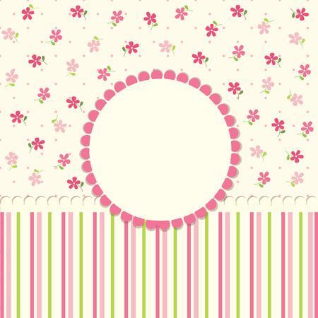 Cute baby flower background