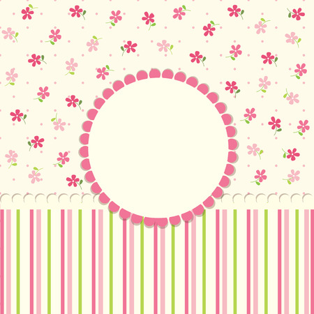 Cute baby flower background