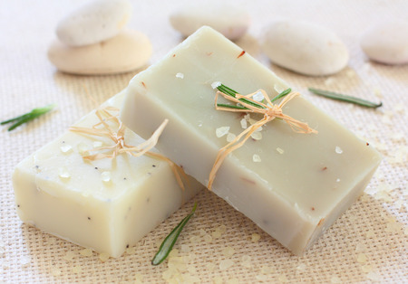 Natural handmade soap ,sea salt and stones