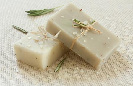 Natural handmade soap and sea salt