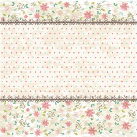 Floral shabby vintage background Illustration