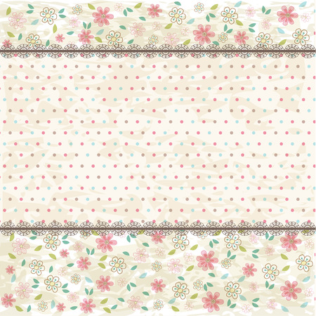 background vintage: Floral shabby vintage background Illustration