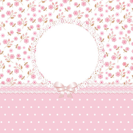 Pink floral romantic background Vector