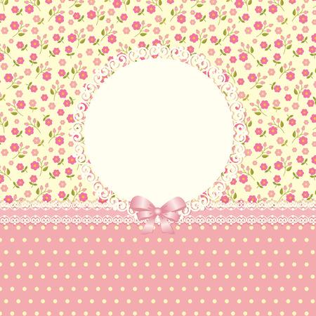 Romantic floral background for invitation, wedding, birthday Illustration
