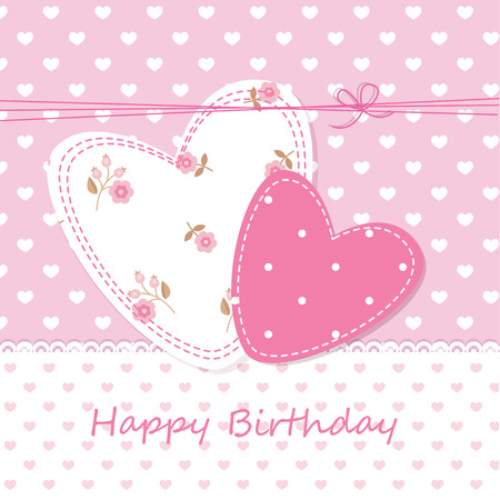 Cute background with hearts for birthday, wedding and Valentines Day