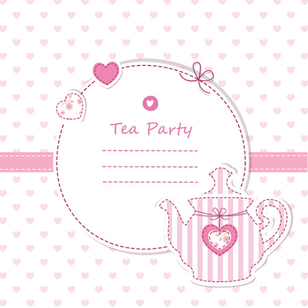 Cute background with teapot Vector