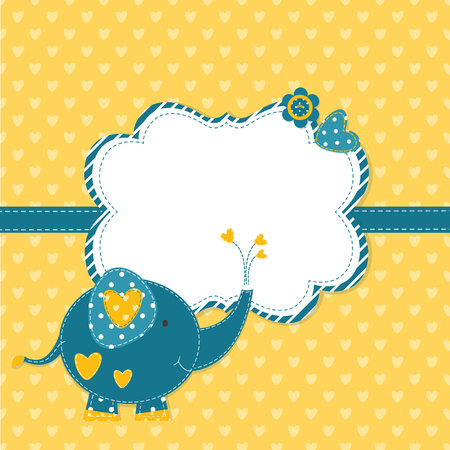 baby shower: Baby shower with cute elephant